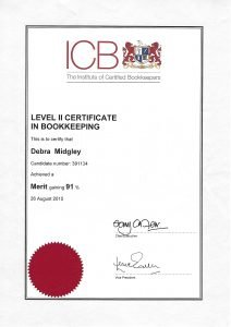 icb certified bookkeeper bedfordshire